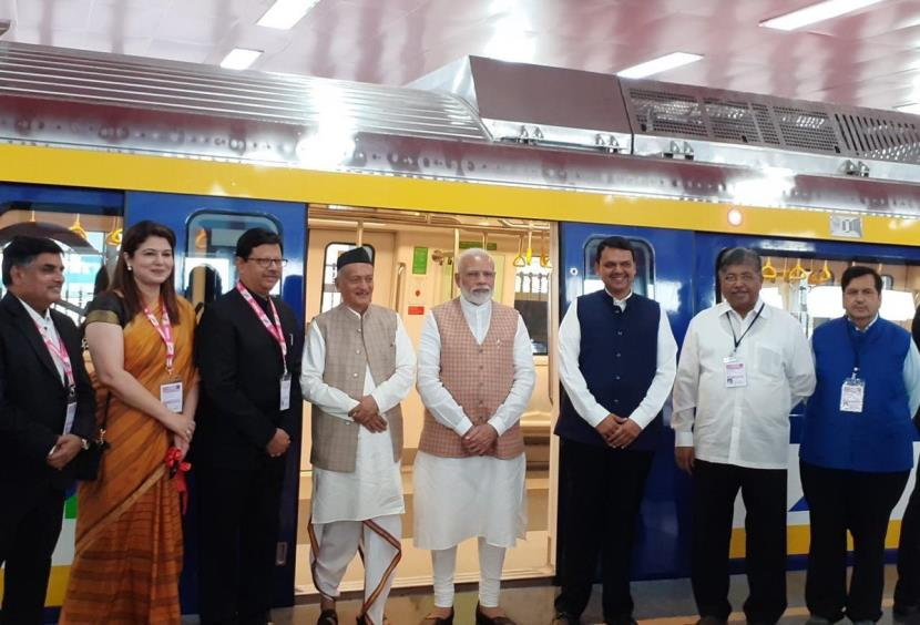 BEML-built coach for Mumbai metro launched by PM Modi.
