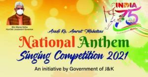 J&K announces national anthem singing contest for...