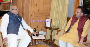 Sunil Kumar Sharma MLA Kishtwar meets Governor