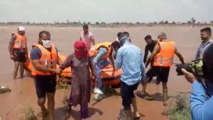 SDRF, police teams rescue woman from drowning in ...