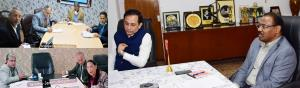 Lt Governor reviews the preparedness of Universit...