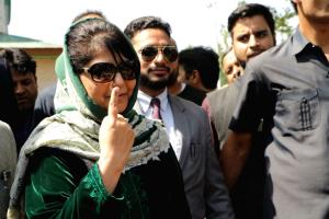 Home turf of Mehbooba Mufti saw 40 polling booths...