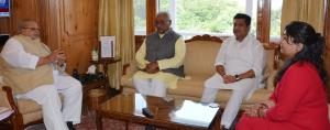 Rakesh Jain meets Governor