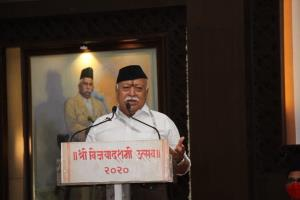 RSS chief lists Article 370 abrogation, Ram Mandi...