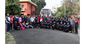 JU VC flagged off Women Hiking and Trekking Exped...