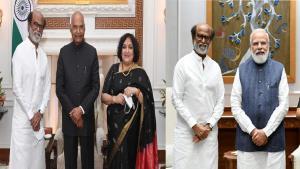 Rajinikanth meets PM Narendra Modi, President Ram...