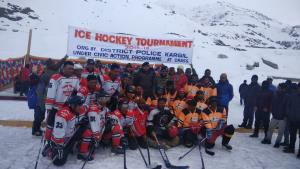 Ice Hockey Tournament gets underway at Kargil