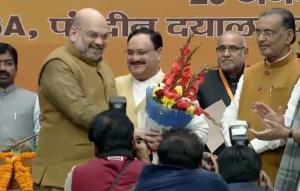 JP Nadda elected unopposed as BJP national presid...