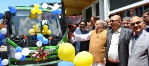 Governor, Union Minister flags off Electric Buses...