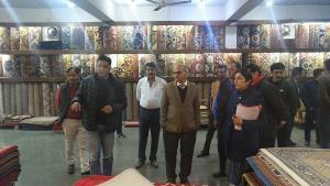 Advisor Sharma visits Shalimar Floorings