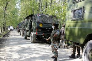 Encounter underway between security forces, terro...