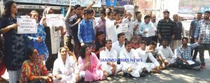 Mahila Panthers protest outside IGP Headquarters