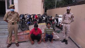 Two notorious thieves arrested; 7 stolen vehicles...