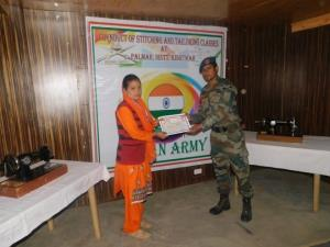 Army organised Stitching Classes