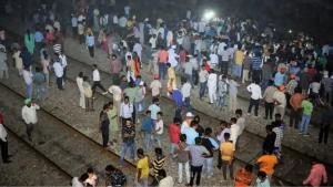 Railway officials rush to Amritsar train accident...