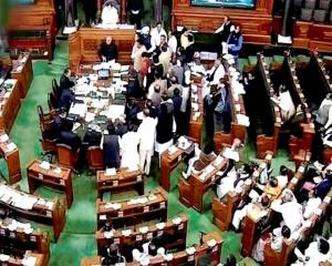 Lok Sabha adjourned till noon following protests