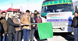 DC Kishtwar flags off students