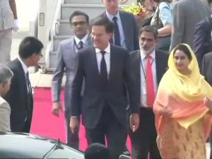 Netherlands PM arrives in India