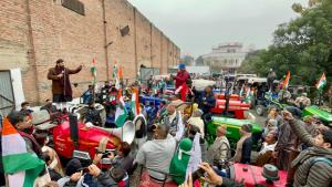 Dogra Swabhiman Sangathan  stages tractor rally i...