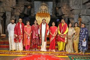 Vice-President Venkaiah Naidu offers prayers at L...