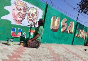 Ahmedabad decked up to welcome US President Donal...