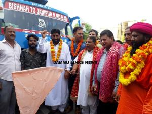 Sat Sharma and Rajesh Gupta flag off Baba Buddha ...