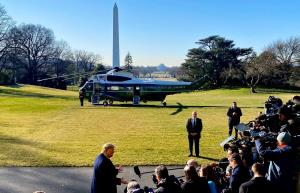 US President Trump leaves for maiden visit to Ind...