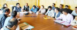DEO Bandipora reviews Election Arrangements
