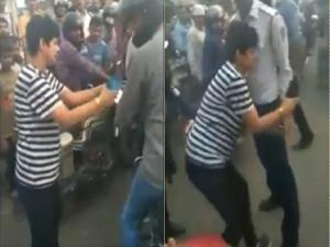 Drunk woman, her friend held for misbehaving with...