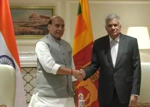Rajnath meets Sri Lankan PM; discusses security, ...