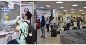 19 domestic flights with 1628 passengers arrive a...