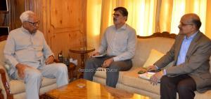 Advisor Kumar meets Governor