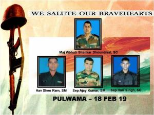 Army remembers martyrs who eliminated Pulwama mas...