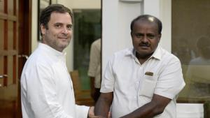 Kumaraswamy to take oath as Karnataka CM today