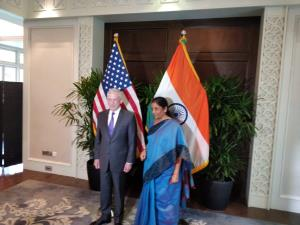 Nirmala Sitharaman holds bilateral talks with Jam...