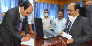 Farooq Lone administered oath as JKPSC member