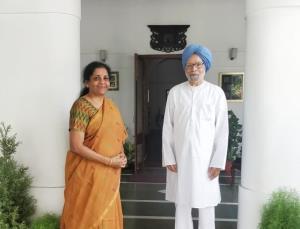 Nirmala Sitharaman meets former PM Manmohan Singh...