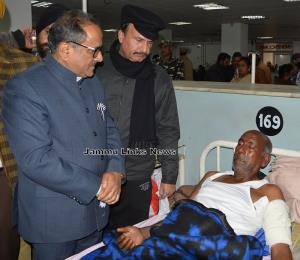 Dy CM visits border firing victims at GMC