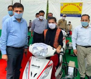 DDC Samba gives away Scooties to specially-abled ...