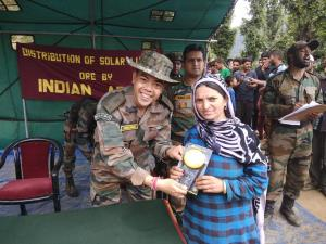 Army distributed 17000 solar lights in un-electri...