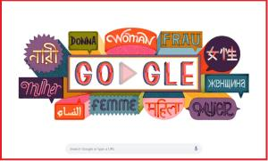 Google doodle celebrates International Women's Day
