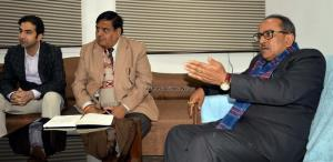 Dy CM discusses the Khair Wood issue