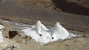 Ice stupa of Ladakh solving water crisis