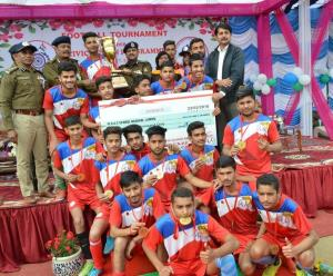 Football Tournament organized by CRPF concludes
