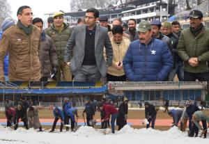 DC Srinagar visits venue to take stock of arrange...