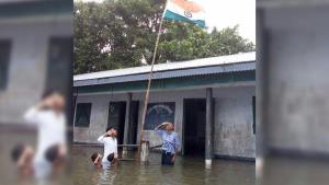 Assam boy who saluted tricolour in chest-deep flo...