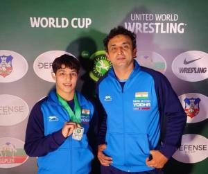 Wrestling coach Sahil's trainees qualify for Toky...