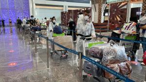 International flight from Muscat arrives at Srina...