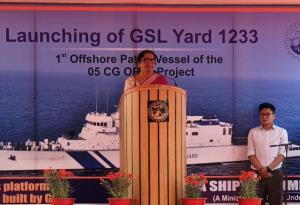 Sitharaman launches vessel, asks defence PSUs to ...