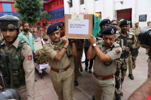 Wreath laying event for martyr held at DPL Srinag...